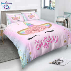 Personalized Beloved Unicorn Lash Bedding Set