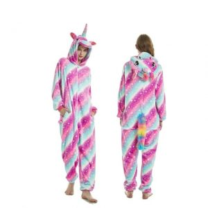 Big Galaxy Flannel Unicorn Onesie