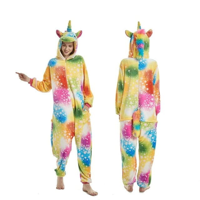 Big Galaxy Flannel Unicorn Onesie