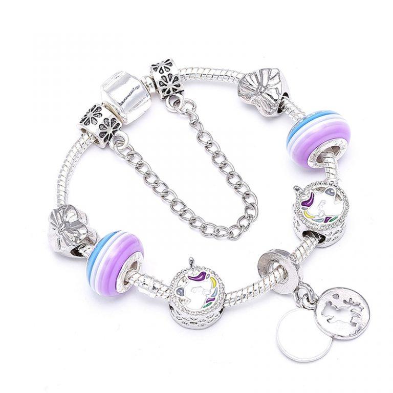 Unicorn Charm Beads Bracelet
