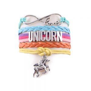 10 Colors Unicorn Leather Bracelets