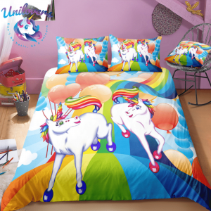 Unicorn and Friend Bedding Set