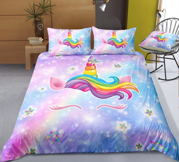 3d Galaxy Lash Unicorn Bedding Set
