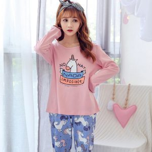 Cute Women's Unicorn Pajama Set
