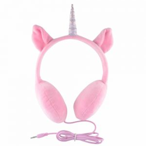 Pink Uni-lover Headphones With Horn for Mp3 Players