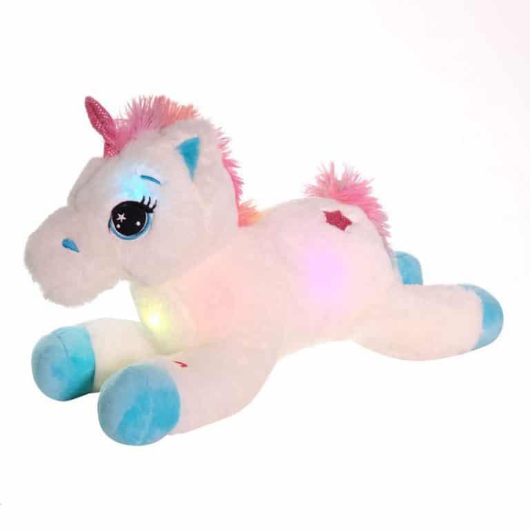 Colorful LED Unicorn Stuffed