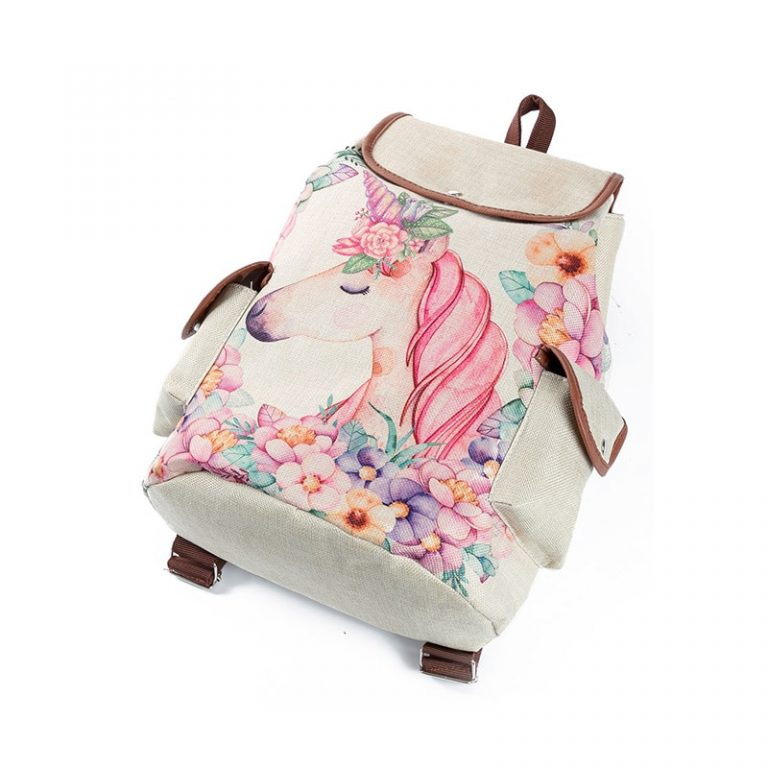 Casual Floral Printed Backpack Drawstring For Teenage