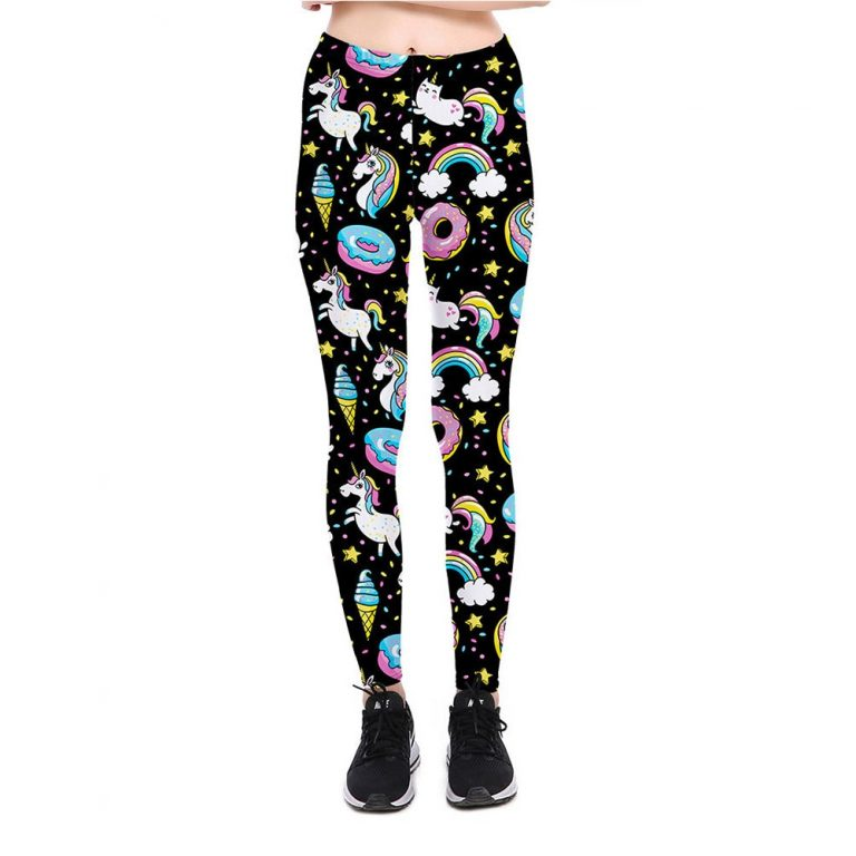 Colorful Digital Print Unicorn Party Series Leggings