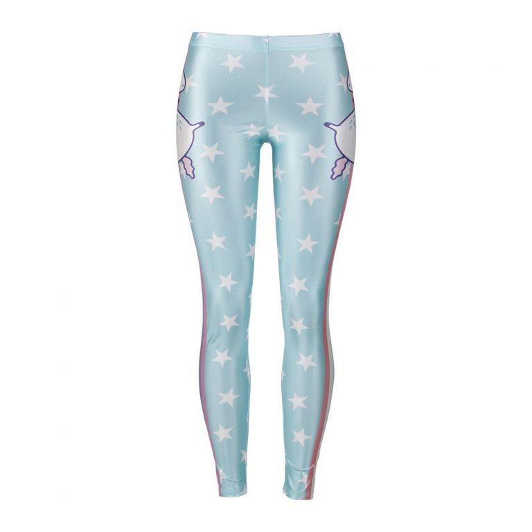 Digital Print Star Rainbow Unicorn Leggings Woman Pants