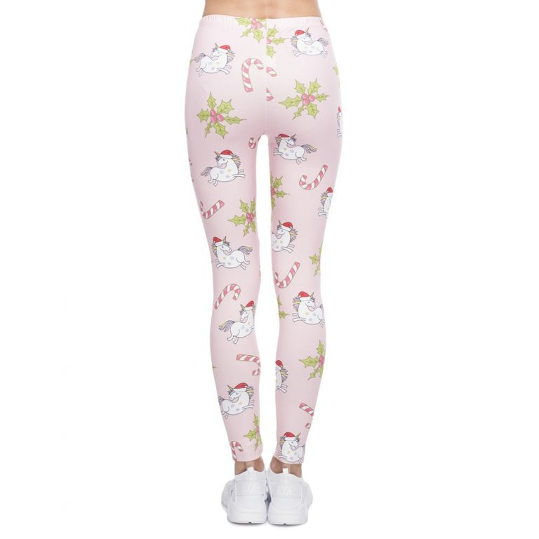 Unicorns Printing Elegant Leggings High Waist Woman Pants