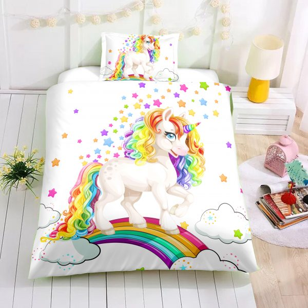 Baby Unicorn Rainbow Bedding Set