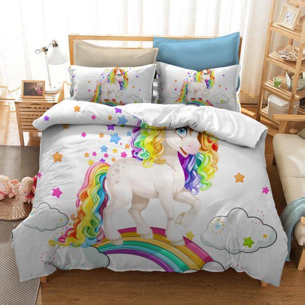 Baby Unicorn Rainbow Bedding Set