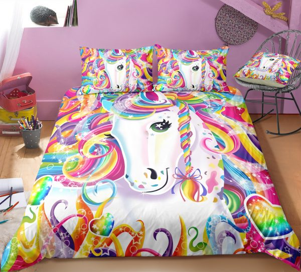 Colorful Rainbow Unicorn Bedding Set