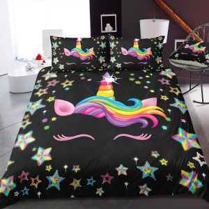 Dark Night Lash Unicorn Bedding Set
