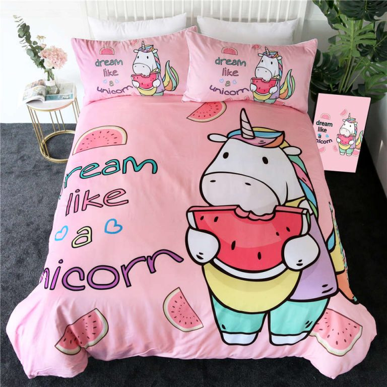Unicorn Cartoon Bedding Set