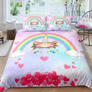Hearts Dreaming Unicorn Bedding Set