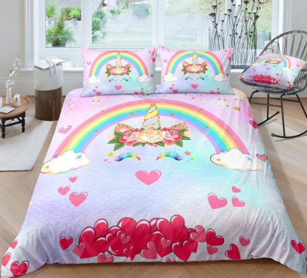 Hearts Dreaming Unicorn Bedding Set