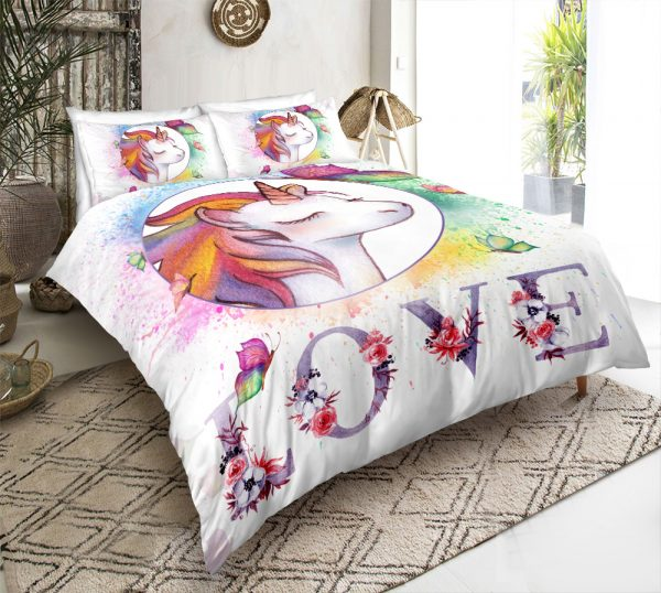Love Unicorn Bedding Set