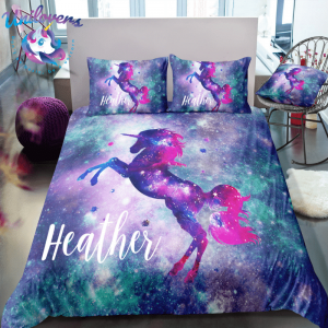 galaxy unicorn bedding