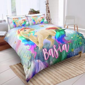 Personalized Custom Majestic Unicorn Bedding Set – Unicorn Gift For Girls – Unicorn Bedroom Set