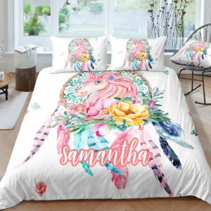 Personalized Dreamcatcher Unicorn Bedding Set