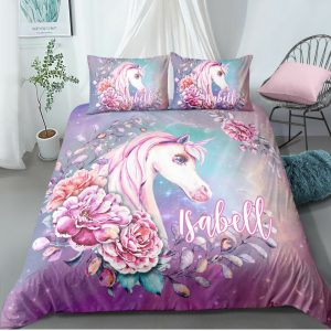 Personalized Fairytale Unicorn Bedding Set