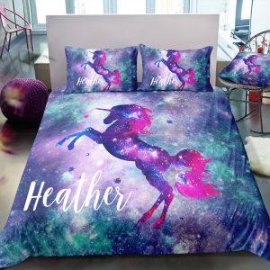 Personalized Galaxy Unicorn Bedding Set