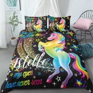 Personalized Magical Unicorn Bedding Set