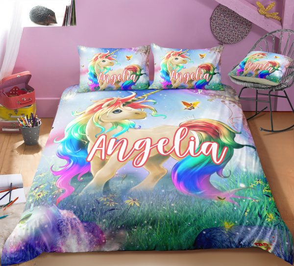 Personalized Majestic Unicorn Bedding Set