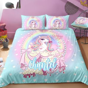 Personalized Princess Unicorn Bedding Set