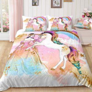 Princess and Unicorn Bedding Set