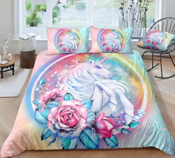 Rose Unicorn Bedding Set