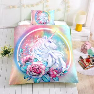 Rose Unicorn Bedding Set