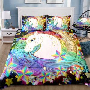 Unicorn In A Star Rotation Bedding Set