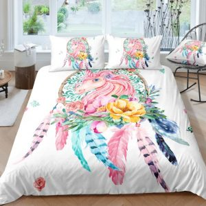 Unicorn Inside A DreamCatcher Bedding Set