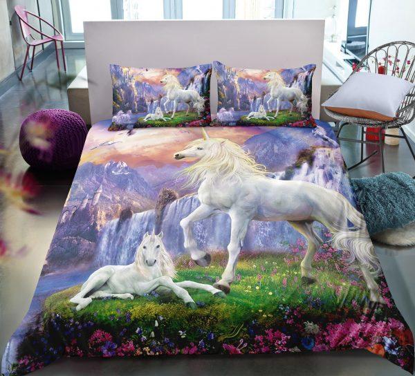 Unicorn in Wonderland Bedding Set