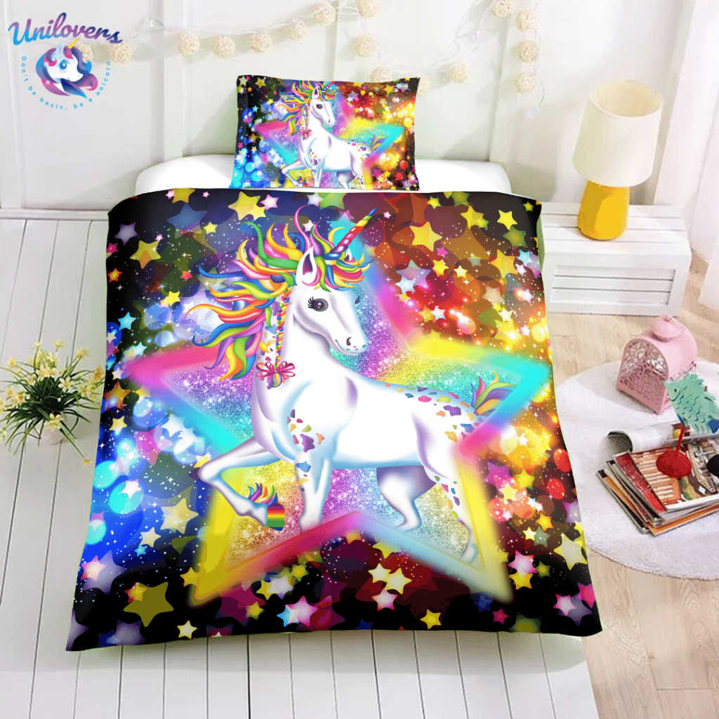 sparkle unicorn bedding