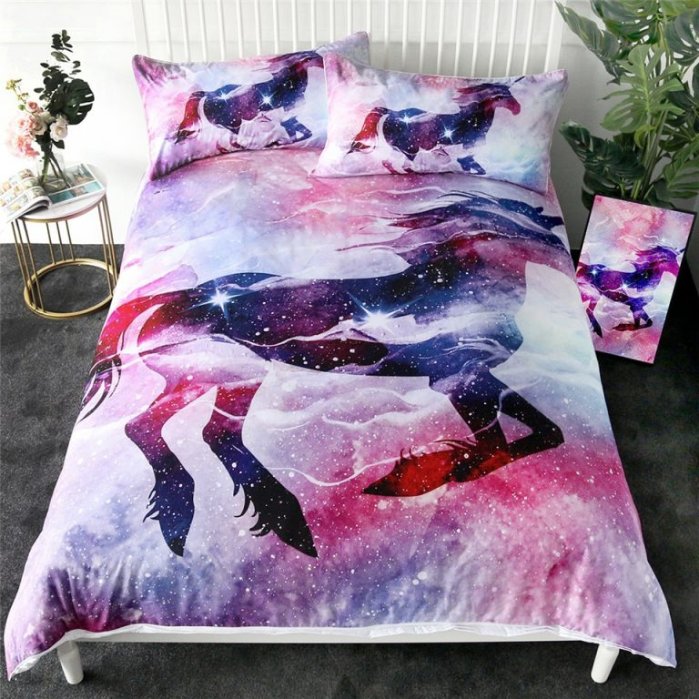 Unicorn Clouds Twin Ful Queen Duvet Cover Sets