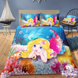 Fish and Mermaid Bedding Set