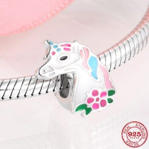 Pink Unicorn Beads Fit Bracelet