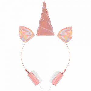 Lovely Sparky Pink Unicorn Wired Headphones