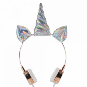 Girls Lovely Sparky Unicorn Wired Headphones
