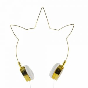 Lovely Gold Unicorn Headphones Wired 3.5mm Earphones