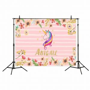 Pink Unicorn Backdrop