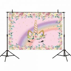 Unicorn Birthday Backdrop for Photographic
