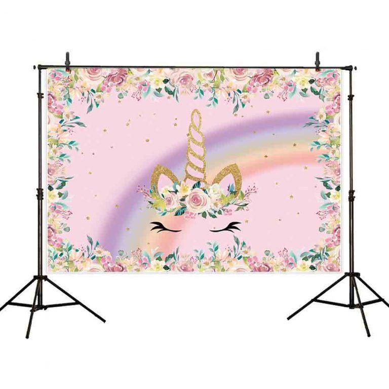 Unicorn Birthday Backdrop for Photographic