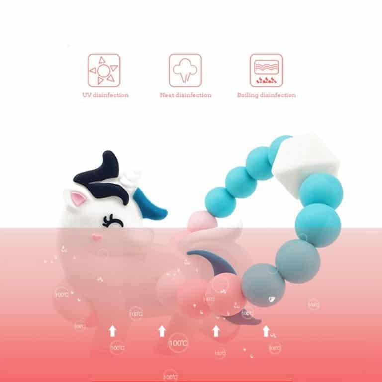 Unicorn Silicone Beads Teething Bracelet