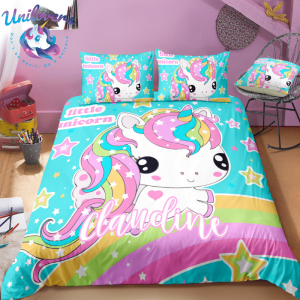 Personalized Adorable Unicorn Bedding Set