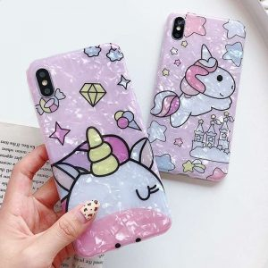 Candy Color Unicorn Phone Case For iPhone