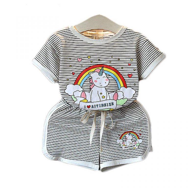 Unicorn Short Sleeve T-Shirt and Shorts
